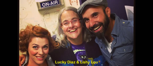 Kathy with Lucky Diaz