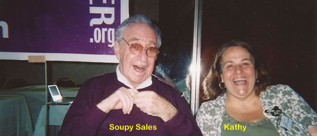 Kathy with Soupy Sales